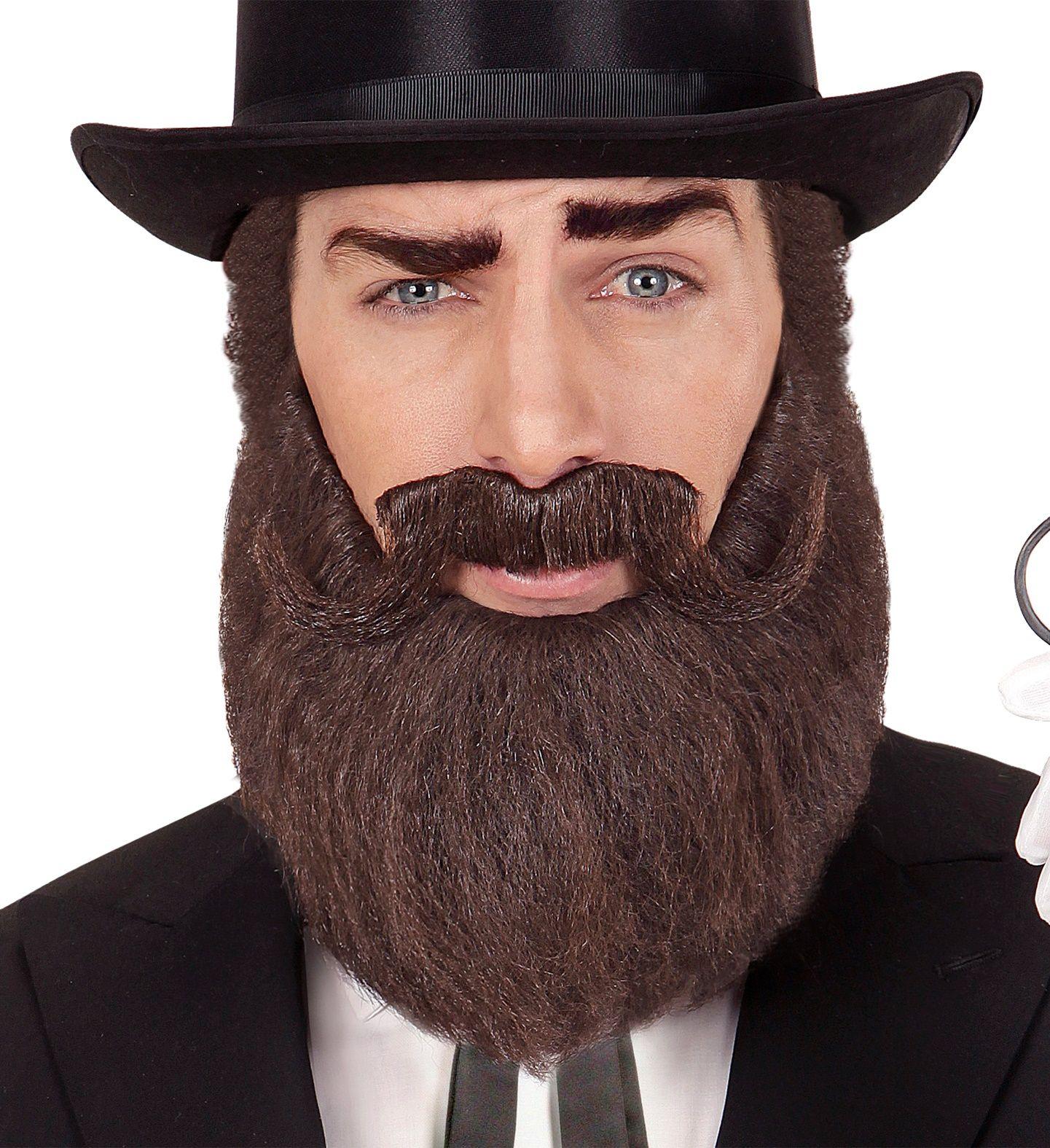 Bruine baard en snor