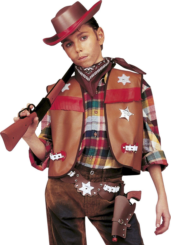 Bruine cowboy verkleedset