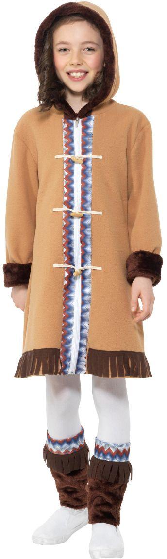 Bruine eskimo kostuum meisjes