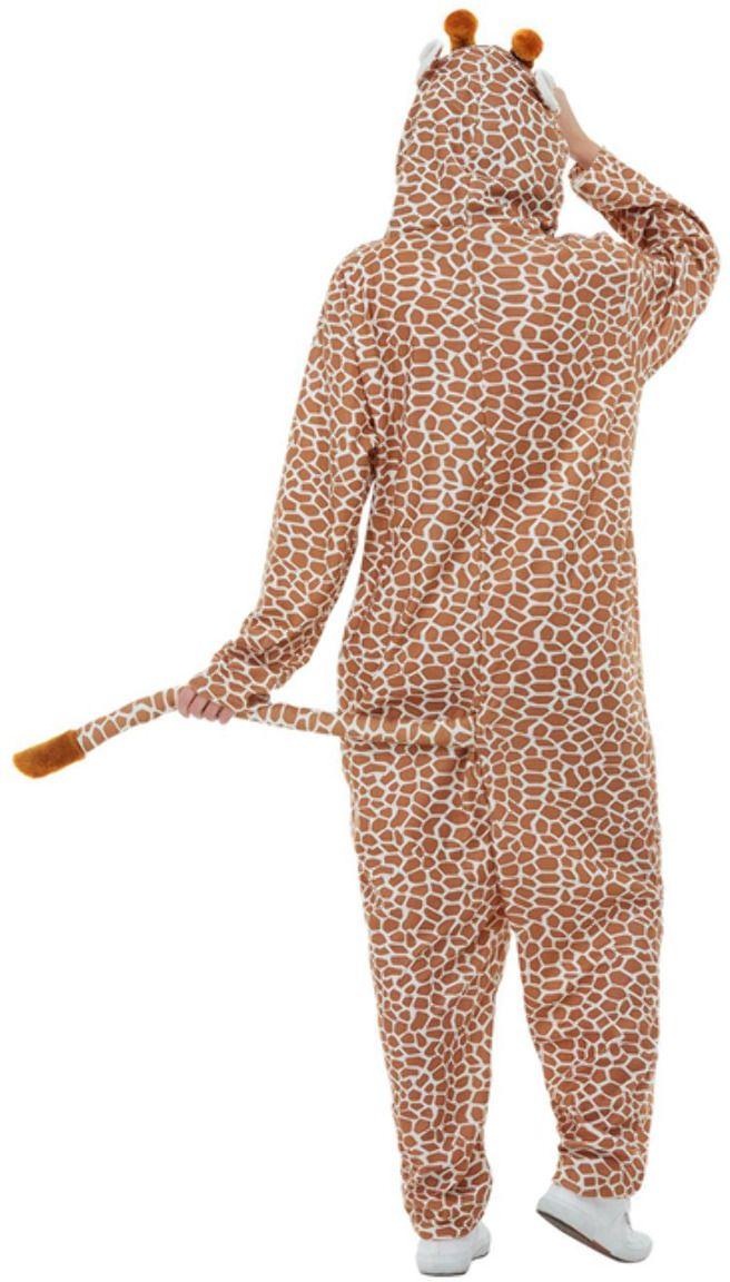 Bruine giraffen onesie
