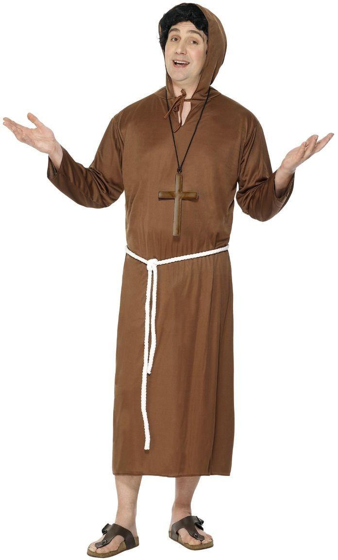 Bruine heren monnik kostuum