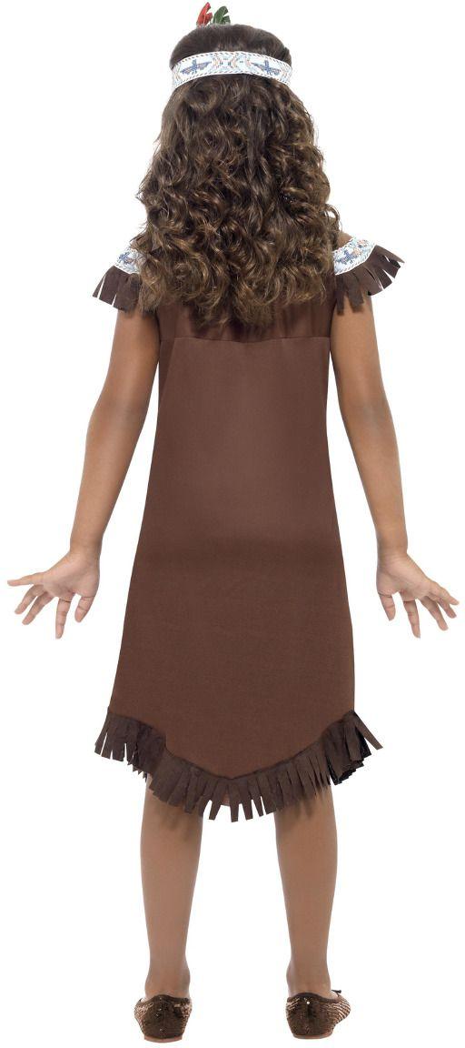 Bruine indianen outfit meisjes