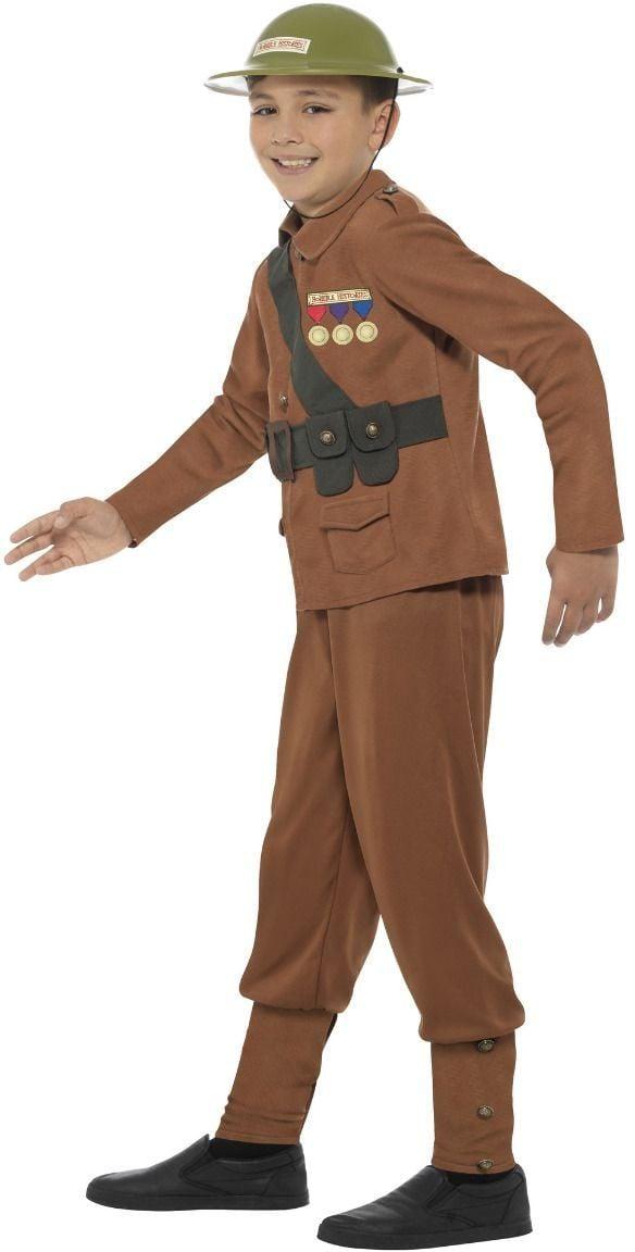 Bruine jongens soldaten kostuum
