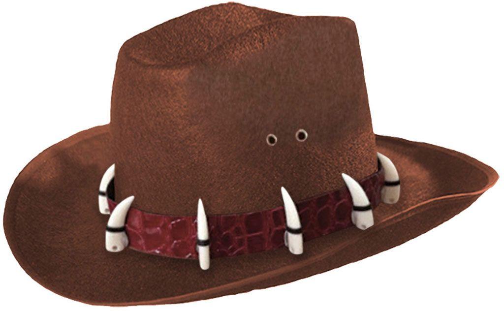Bruine krokodillen Dundee hoed