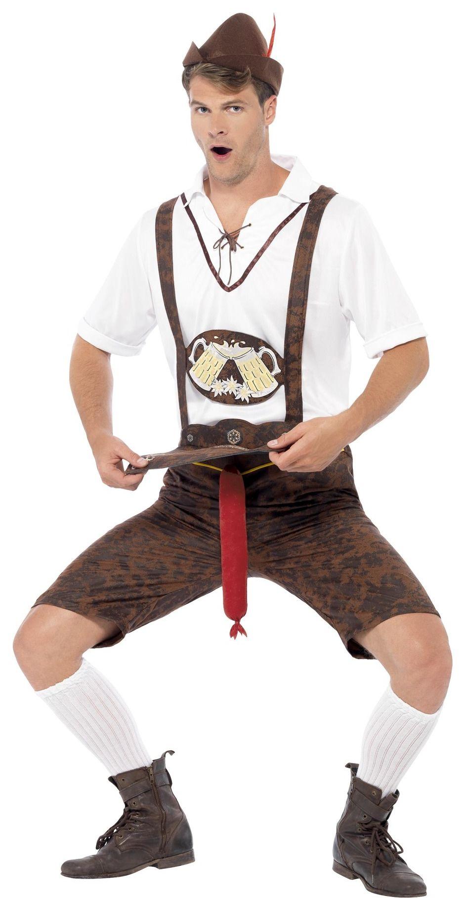 Bruine lederhosen met bratwurst