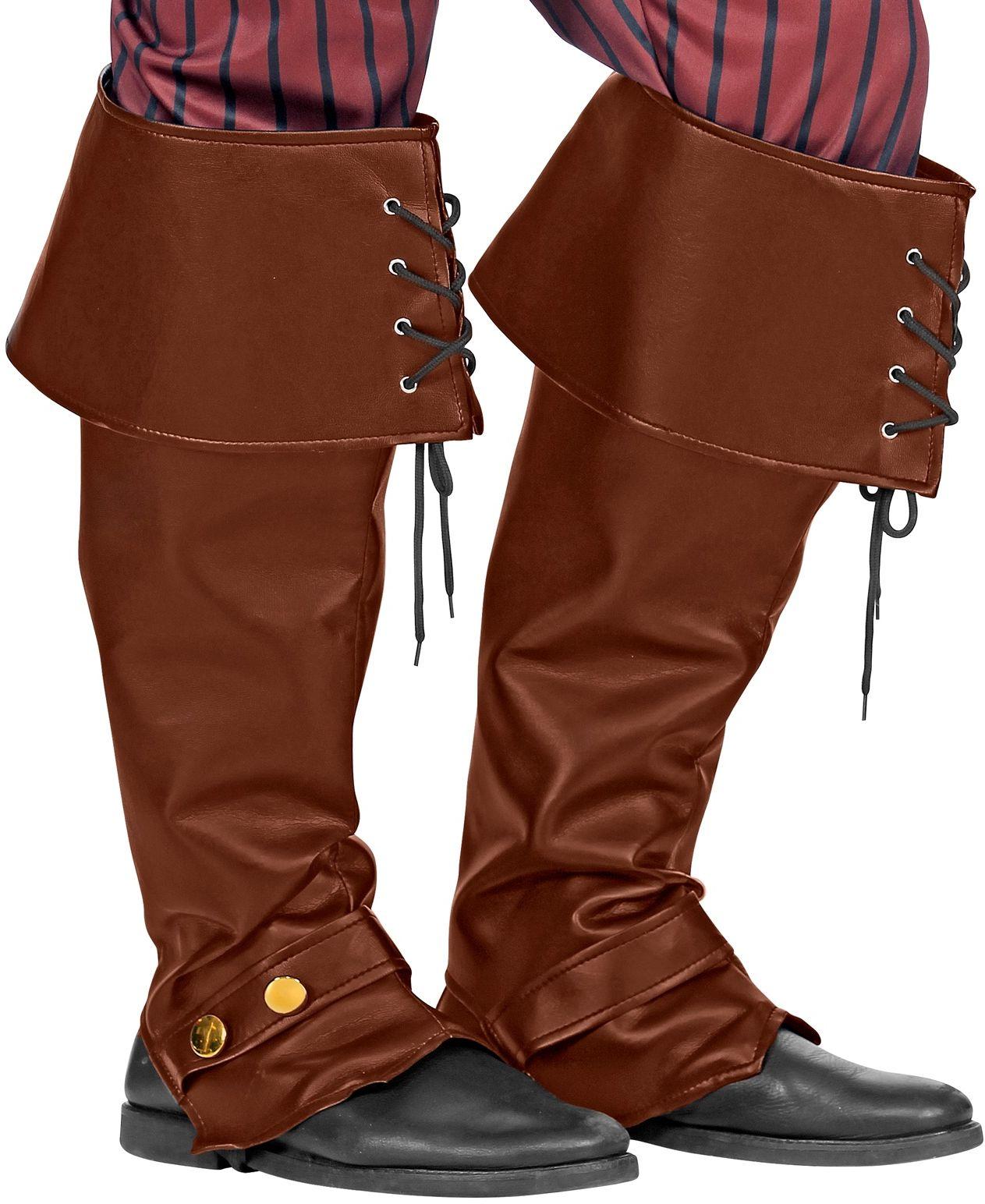 Bruine leren look laarzen covers