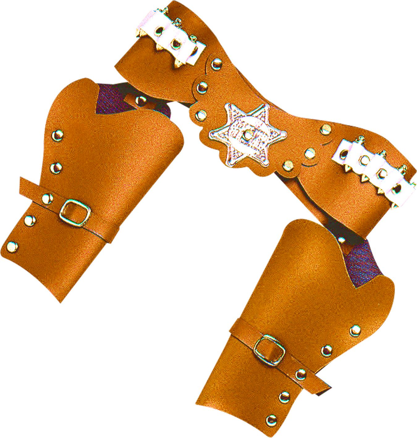 Bruine luxe dubbele cowboy holster
