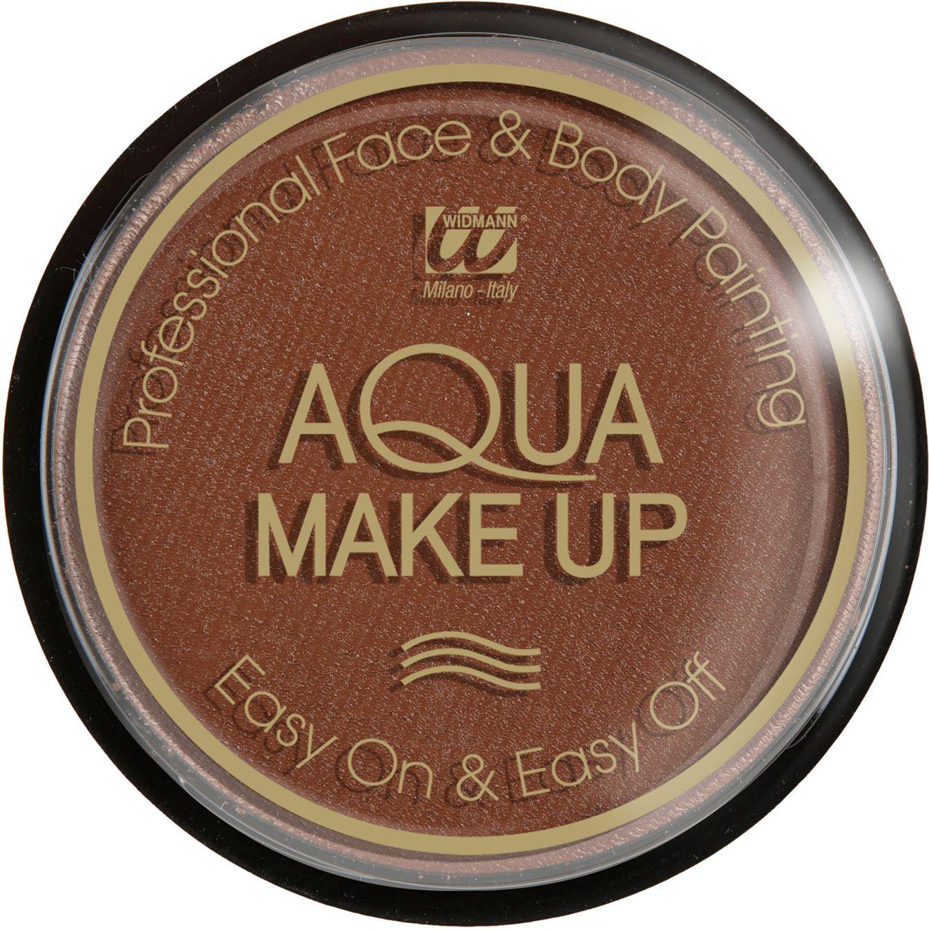 Bruine make-up op waterbasis