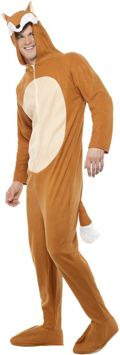 Bruine mannen vossen onesie