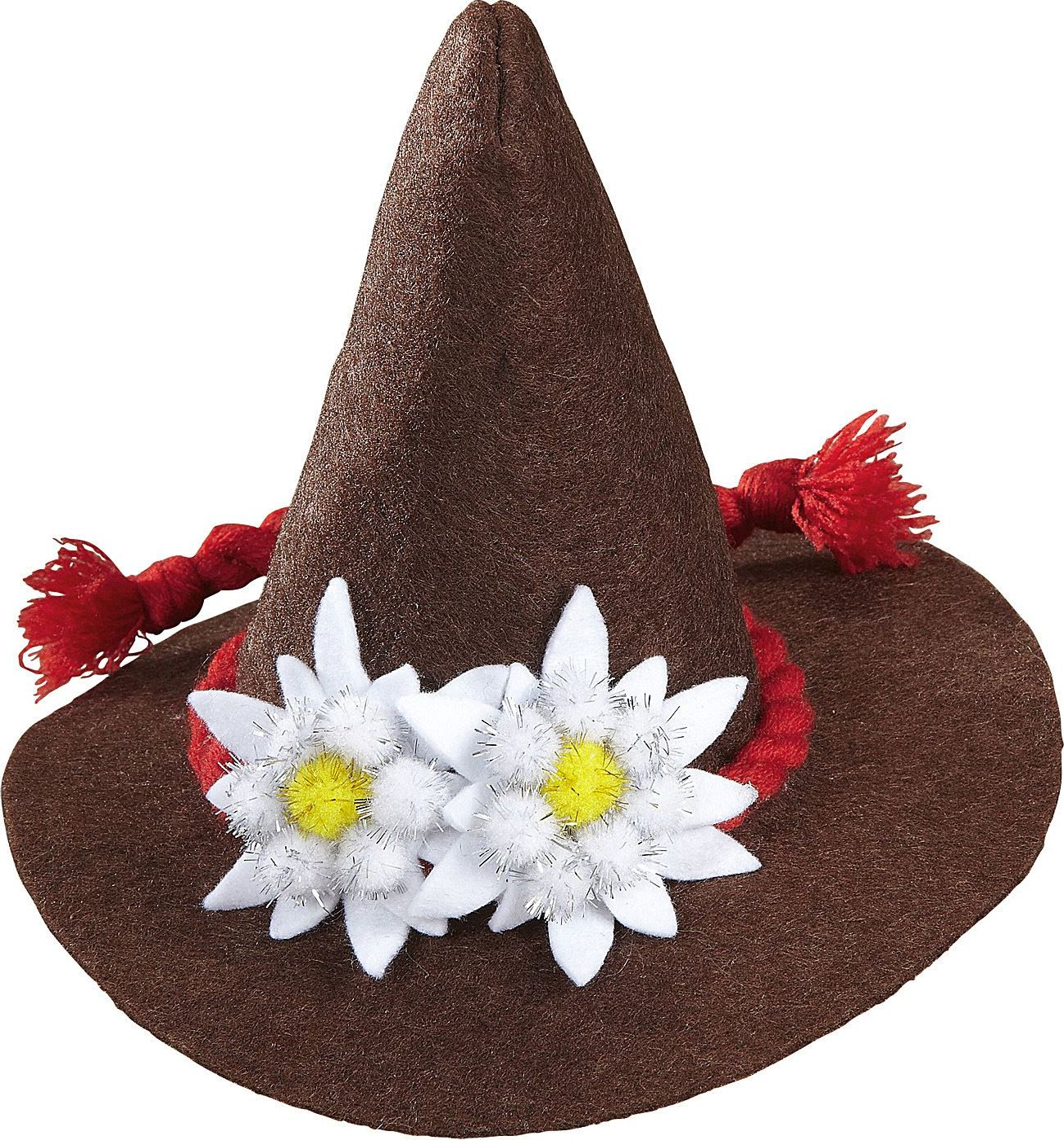 Bruine mini oktoberfest hoed