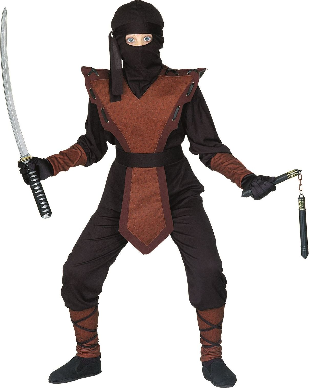 Bruine ninja kostuum