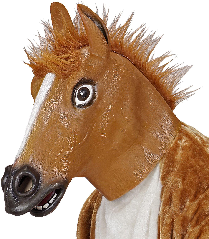 Bruine paarden masker