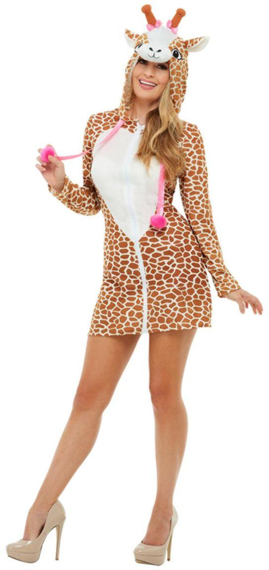 Bruine pluche giraffe jurkje