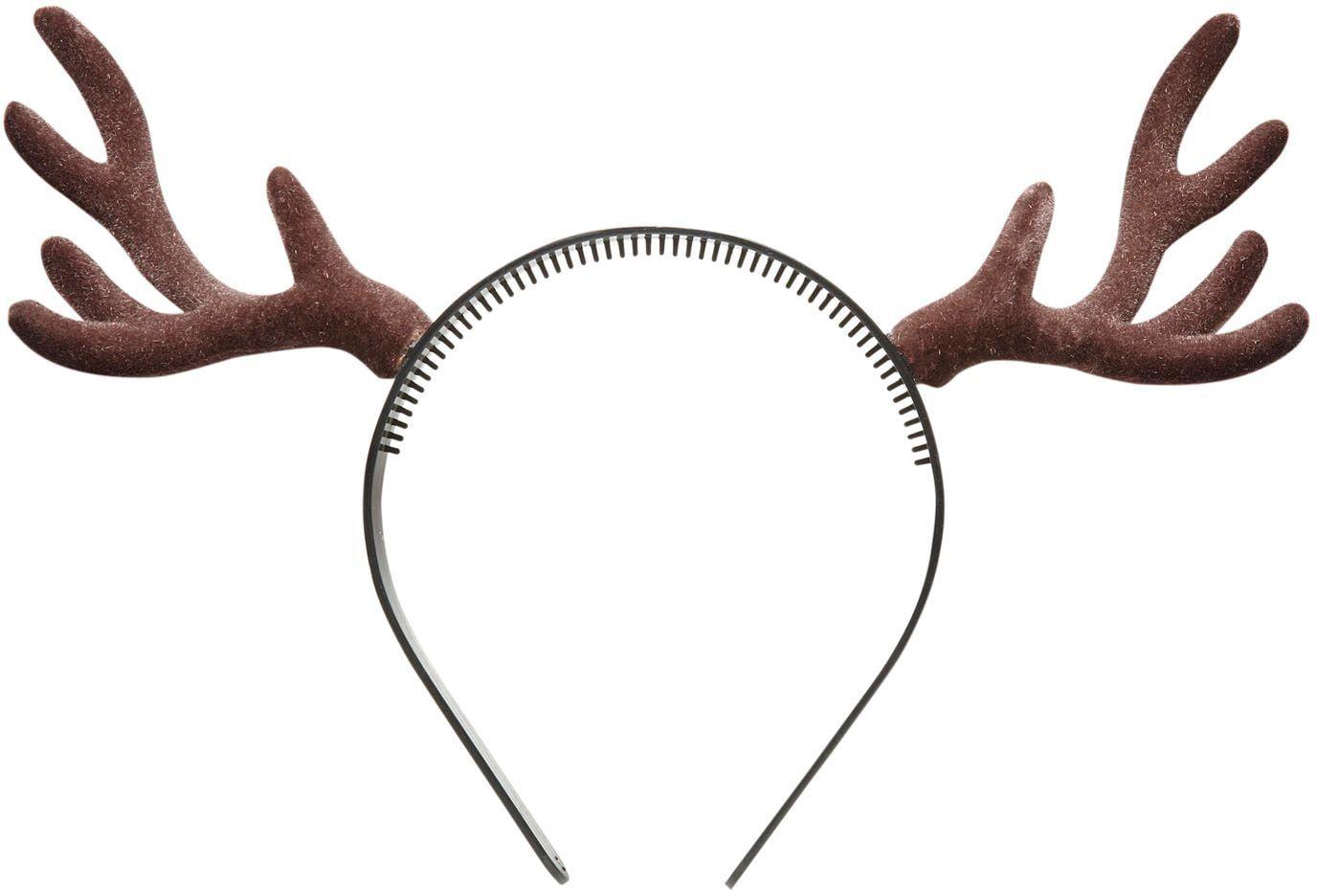 Bruine rendier hoorns