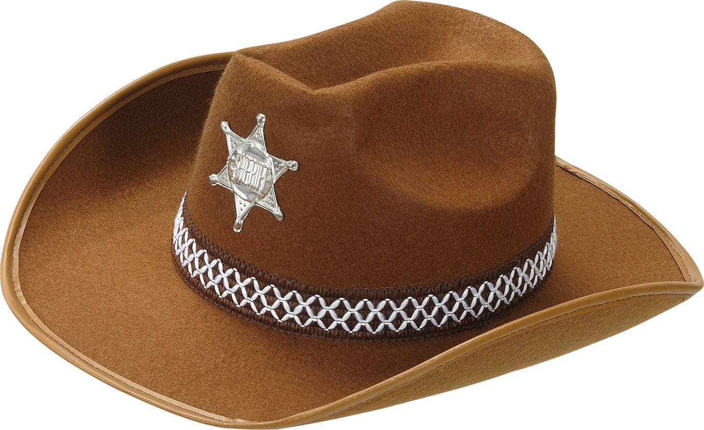 Bruine sheriff hoed