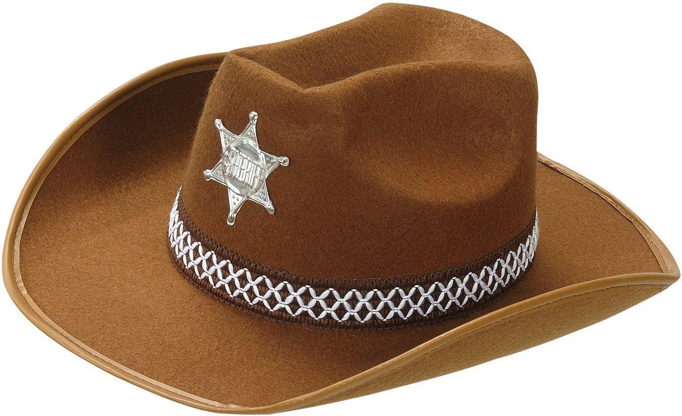 Bruine sheriff hoed kind