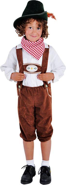 Bruine tiroler broek jongen