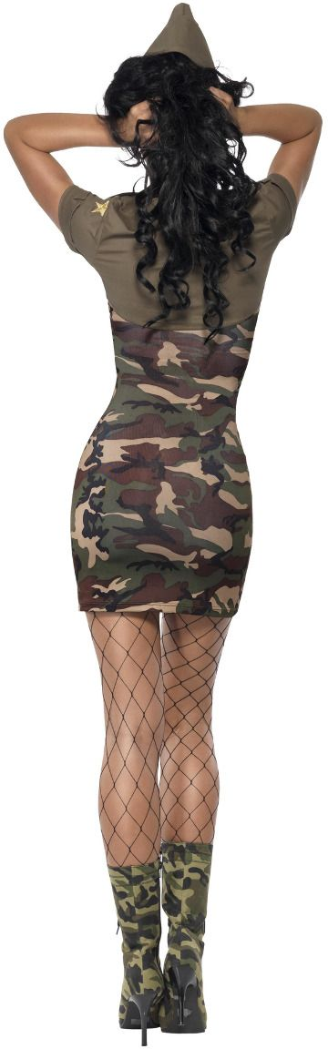 Camo sexy army outfit vrouw