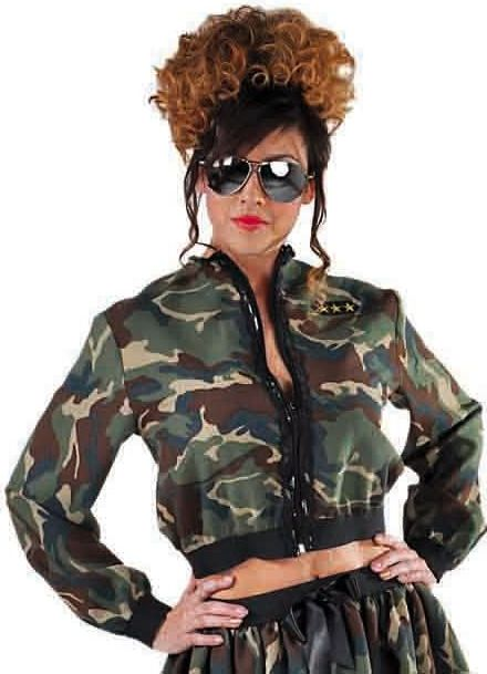 Camouflage jasje vrouwen