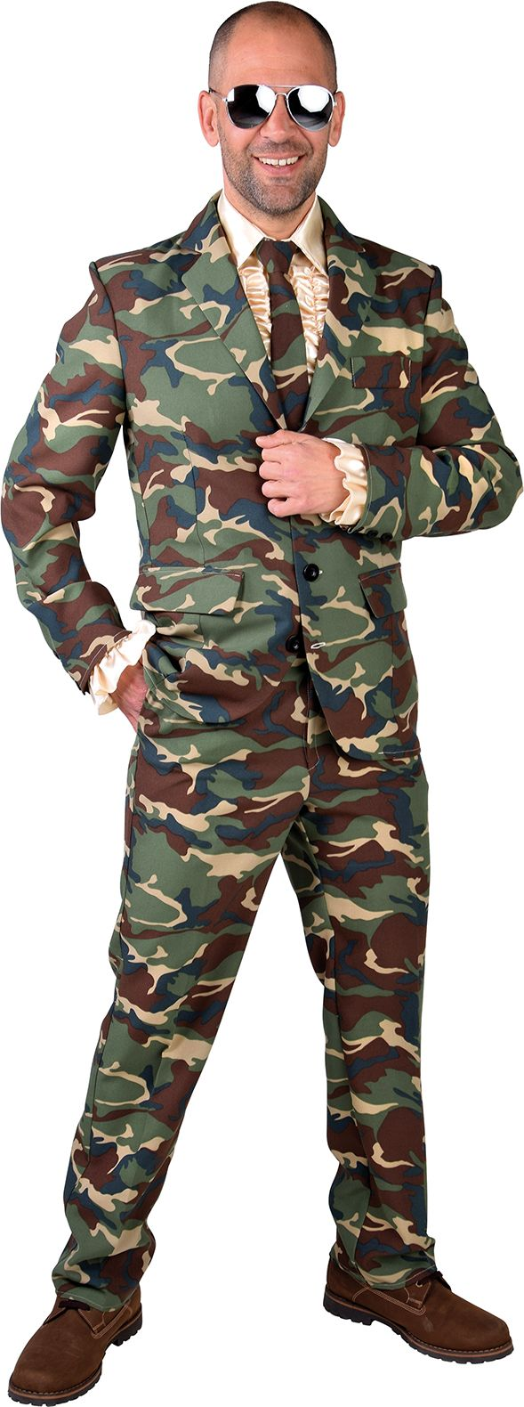 Camouflage pak heren