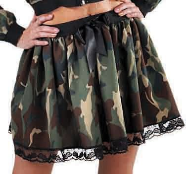 Camouflage rokje vrouwen