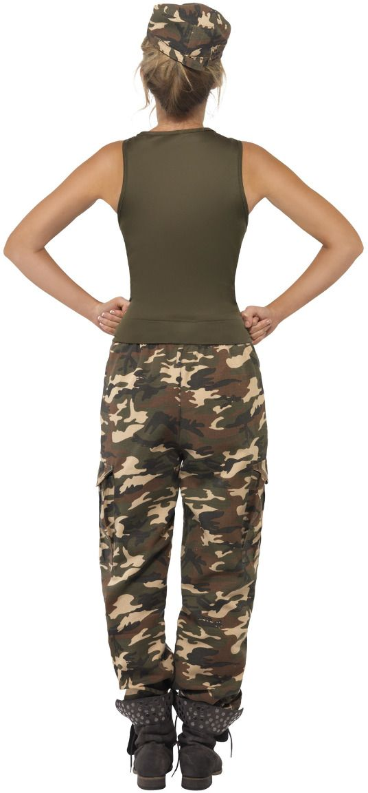 Camouflage vrouwen oorlogs outfit