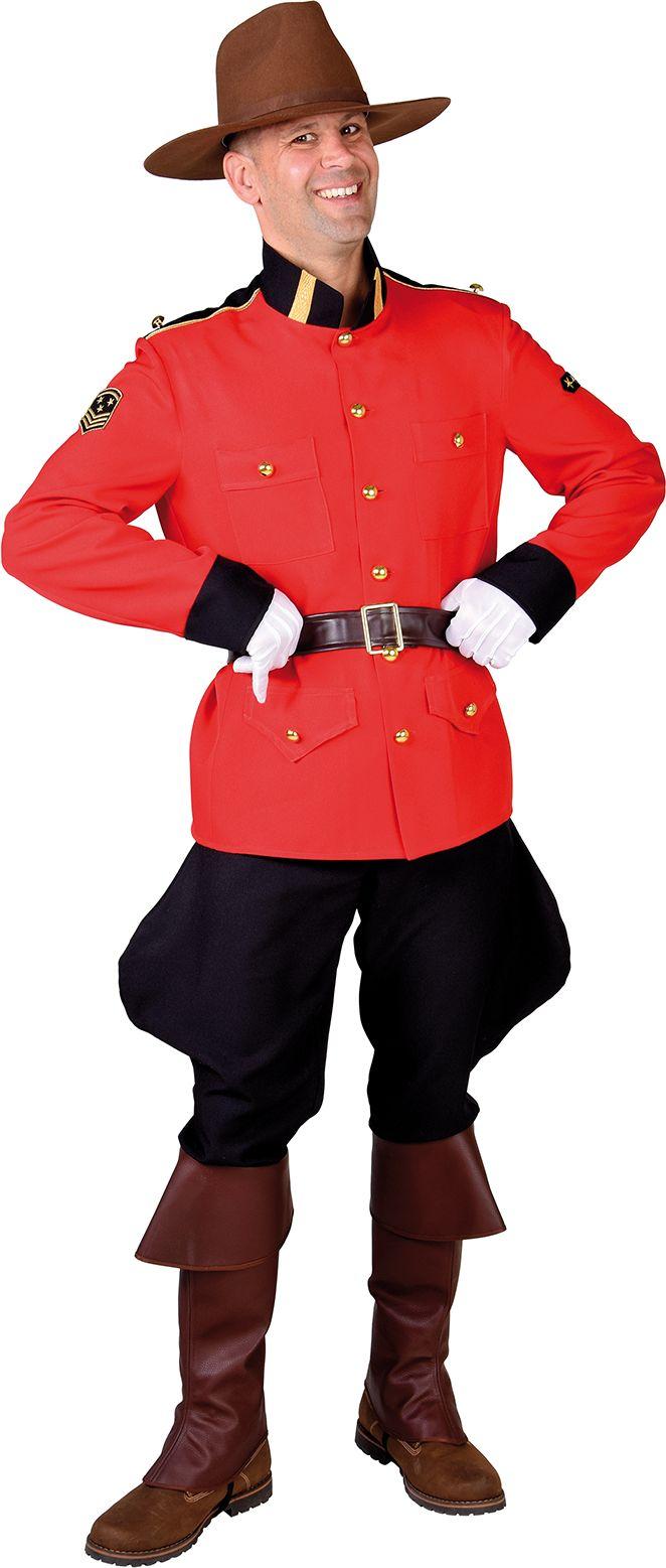 Canadees politie kostuum mannen