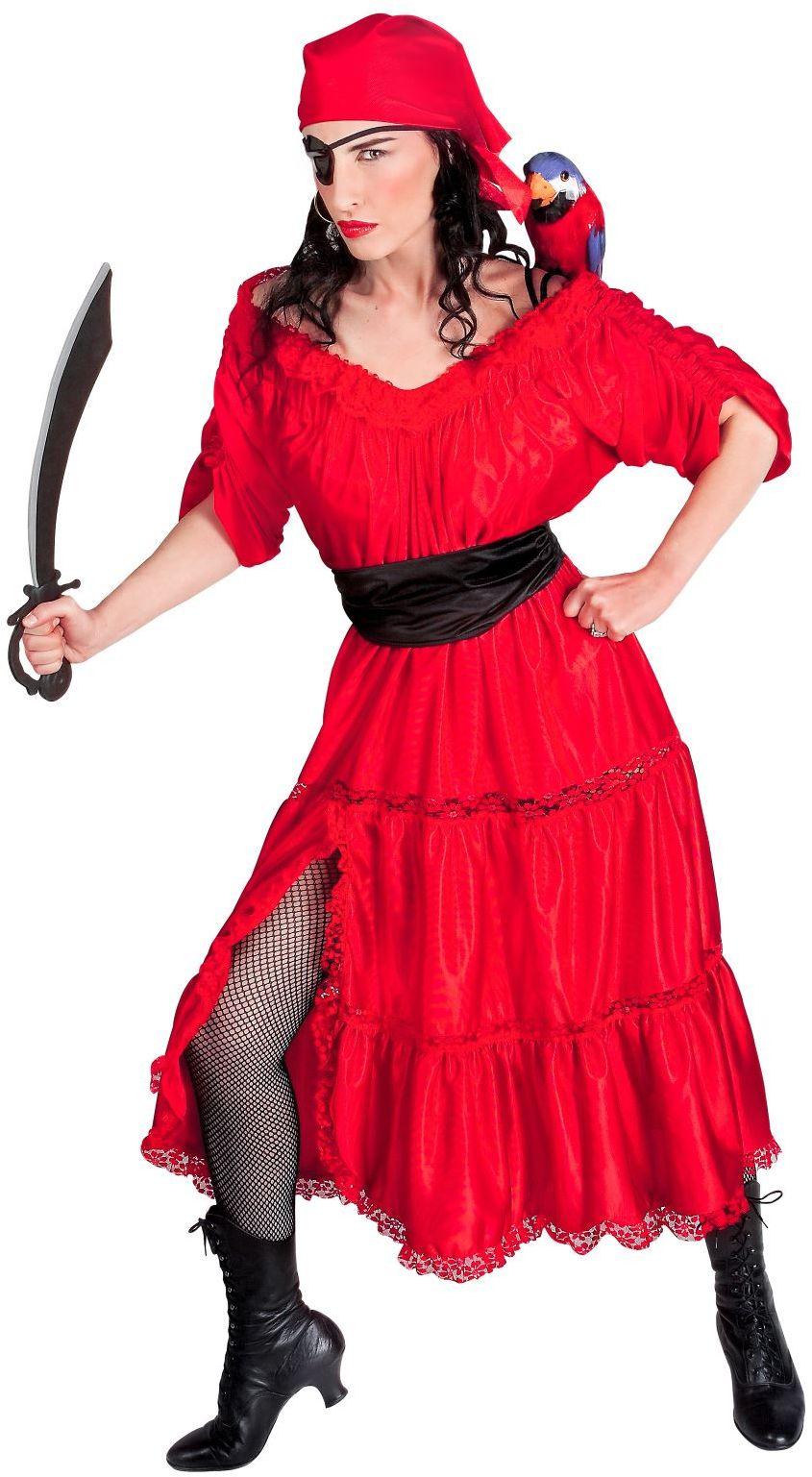 Caraïbische Piraten kostuum, rood
