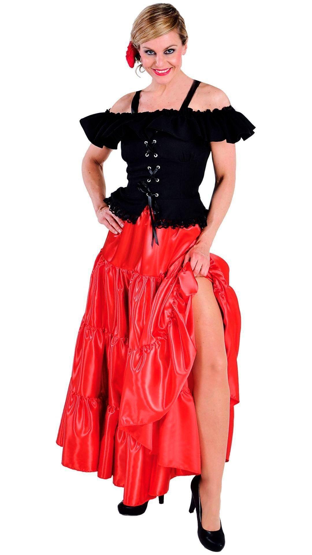 Carmen blouse zwart dames