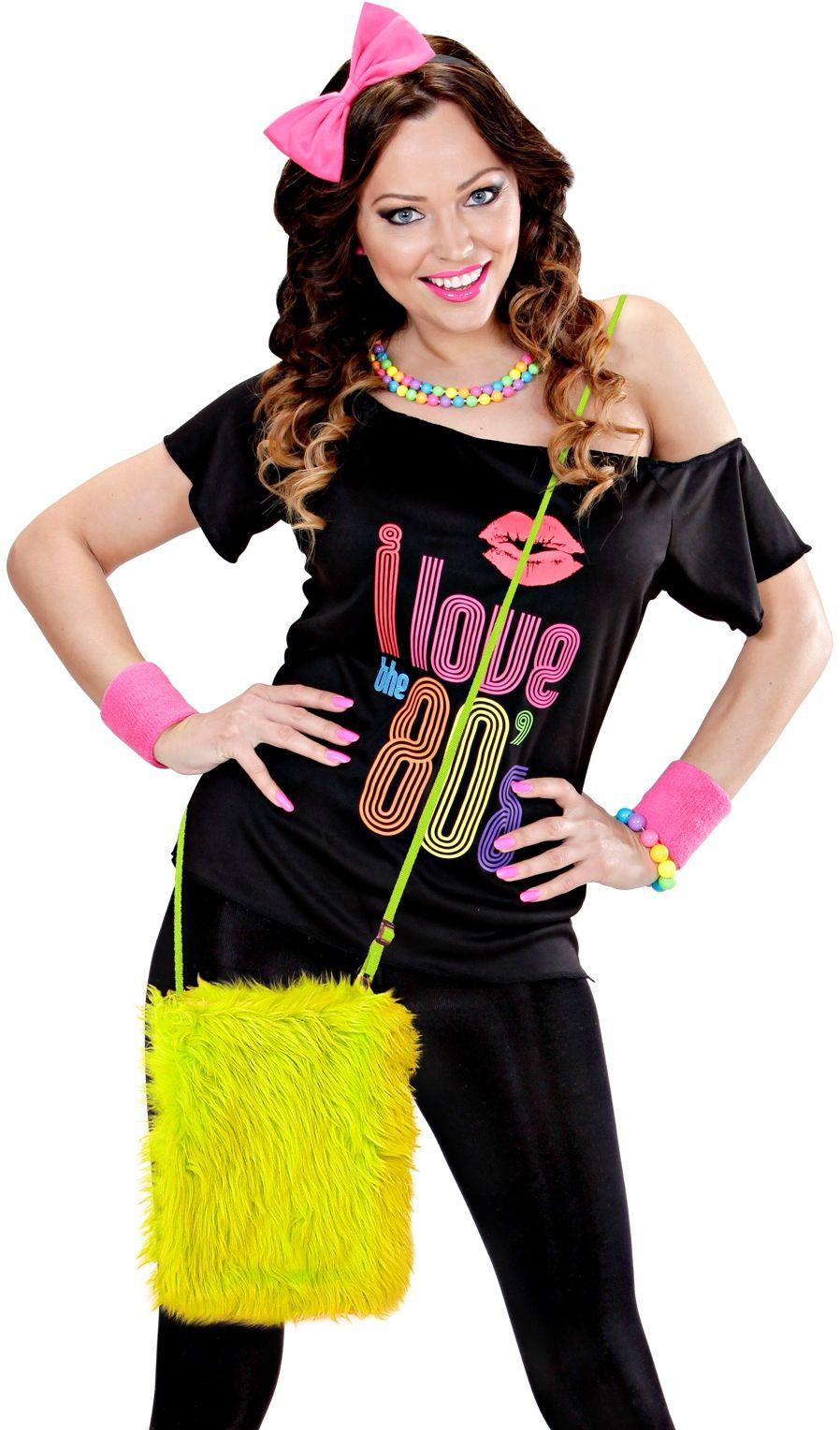 Carnaval schoudertasje geel