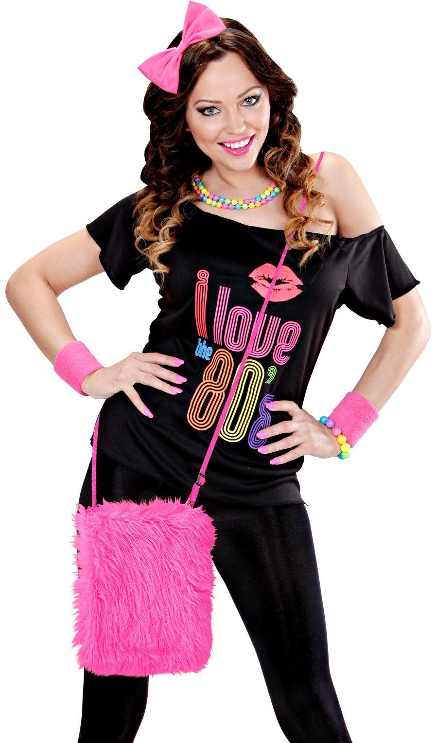 Carnaval schoudertasje roze