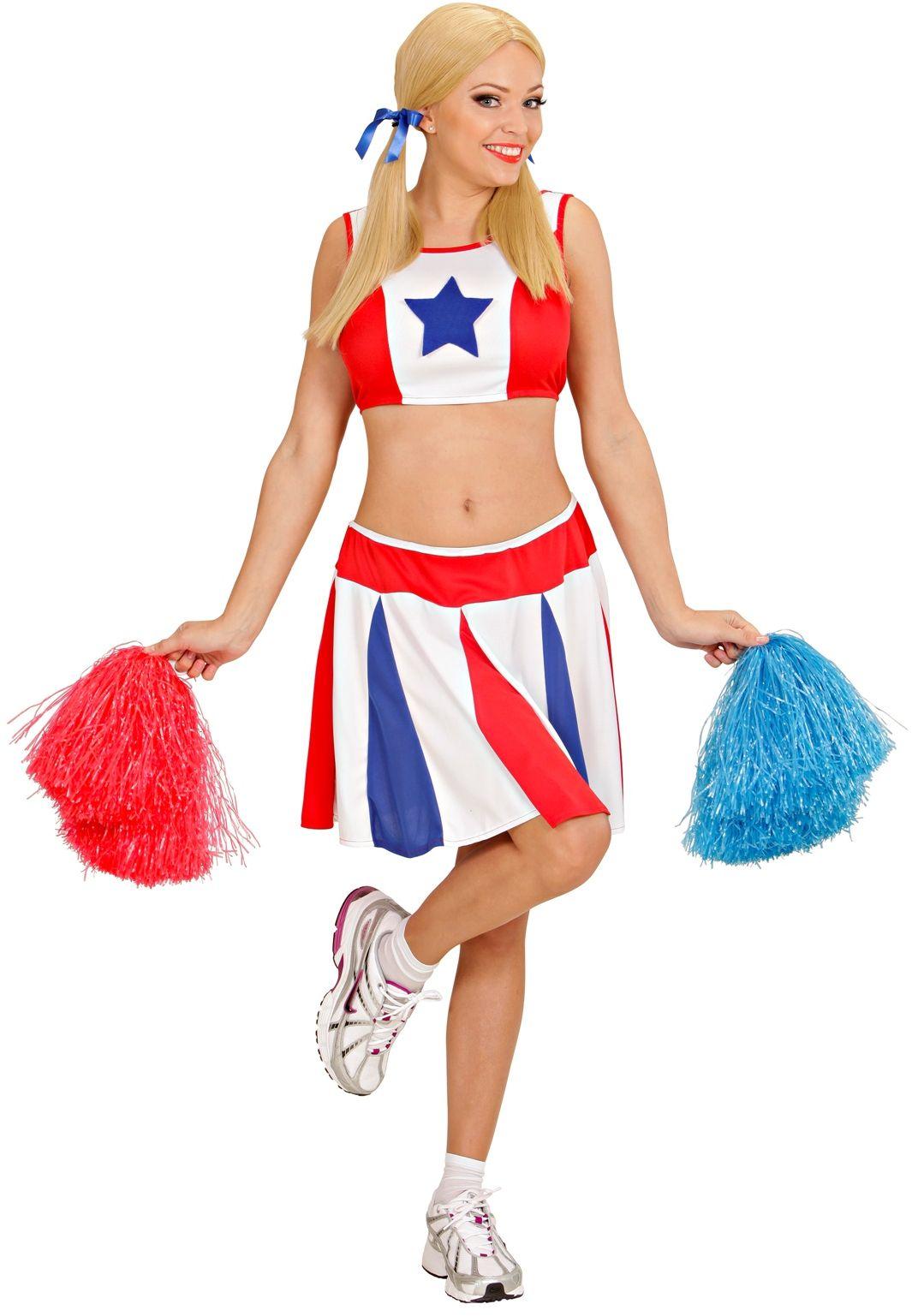 Cheerleader dames kostuum