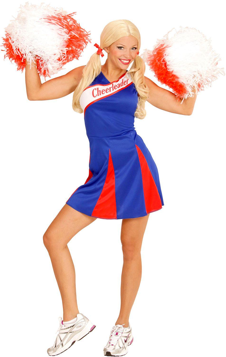Cheerleader jurkje blauw rood