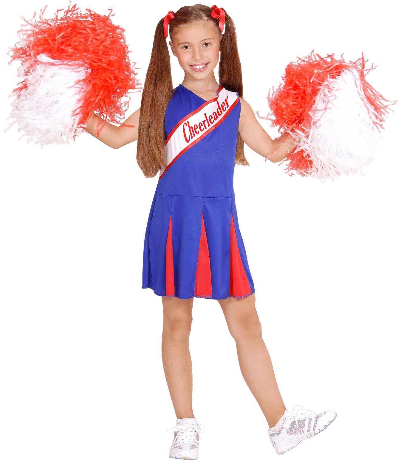Cheerleader kind blauw rood