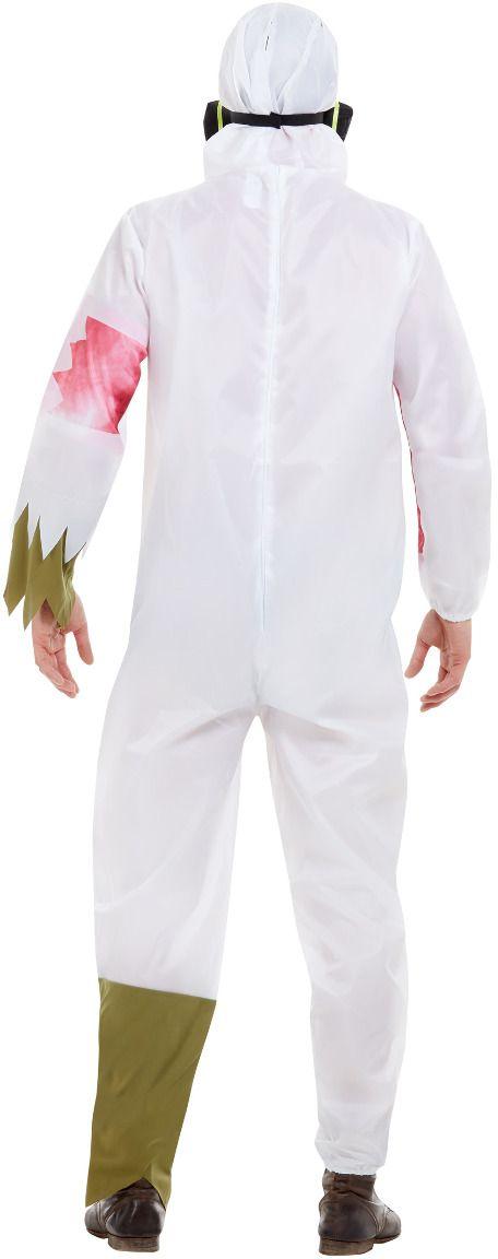 Chemische uitbraak witte outfit