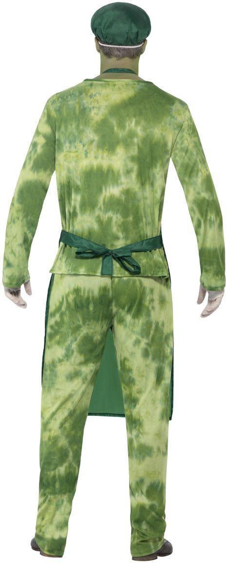 Chemische zombie outfit mannen