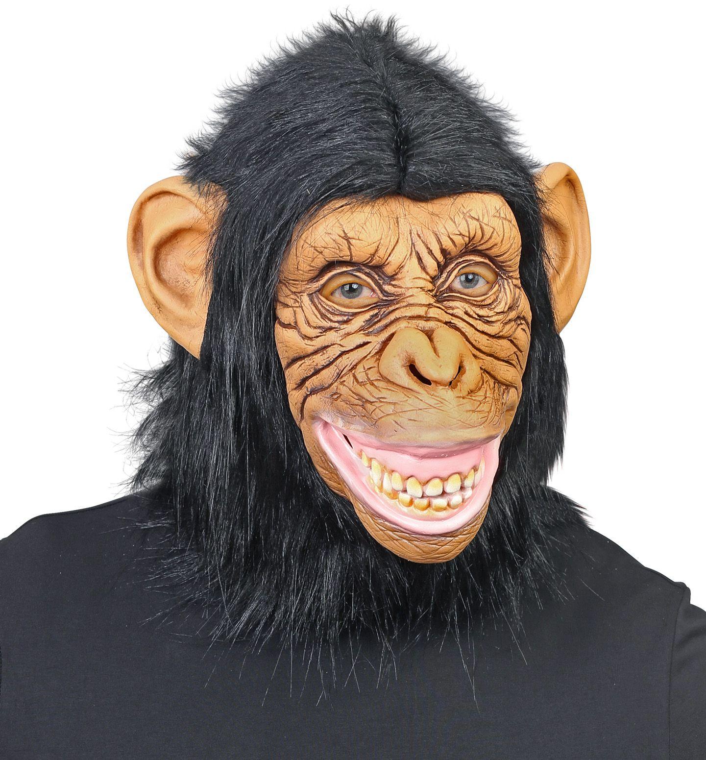 Chimpansee masker bruin mannen