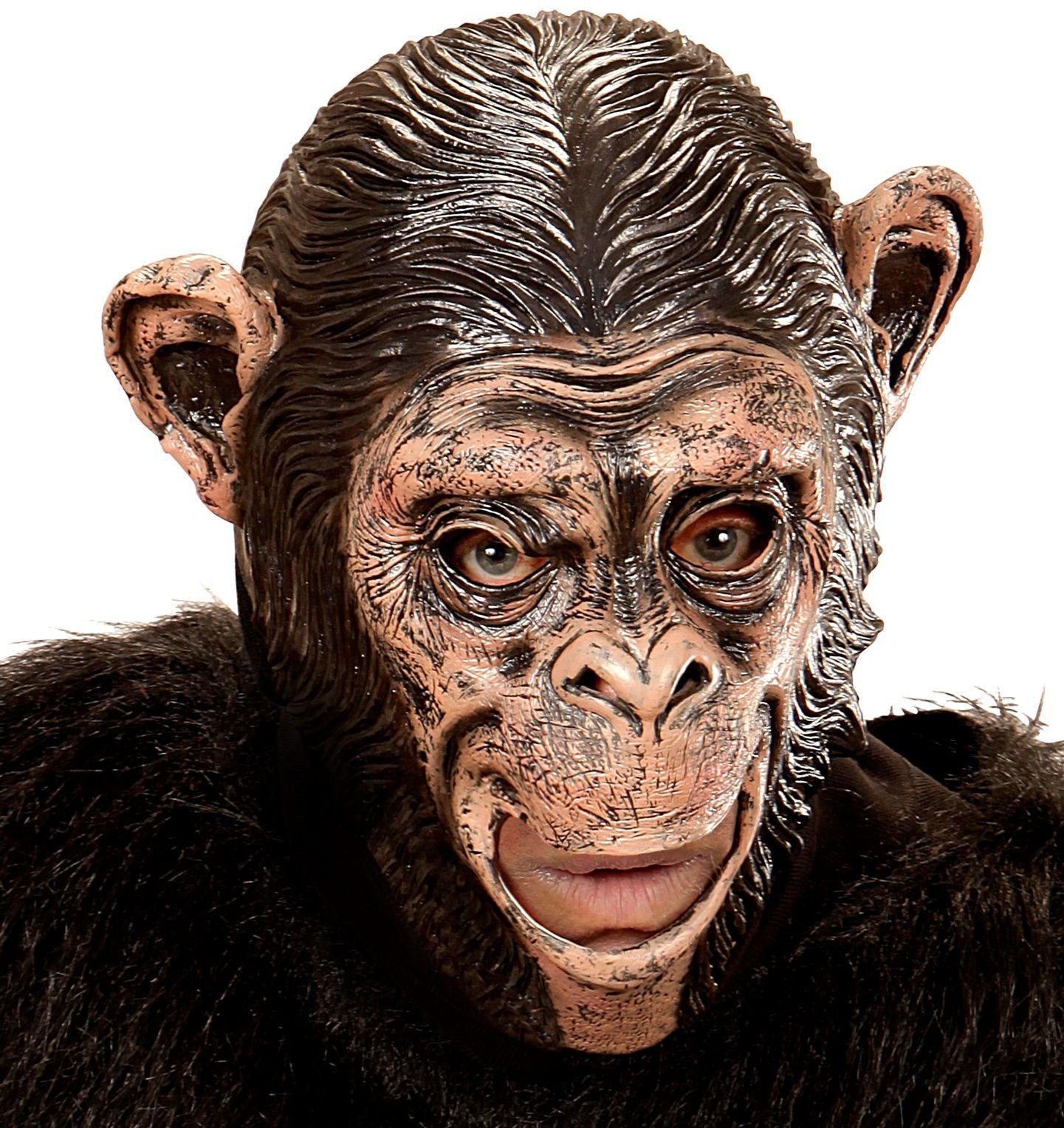 Chimpansee masker met open mond