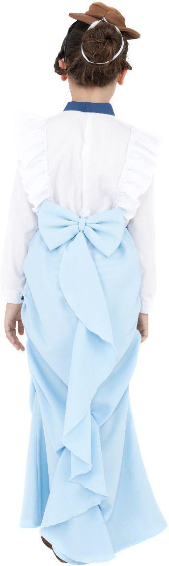 Chique victoriaanse blauwe jurk
