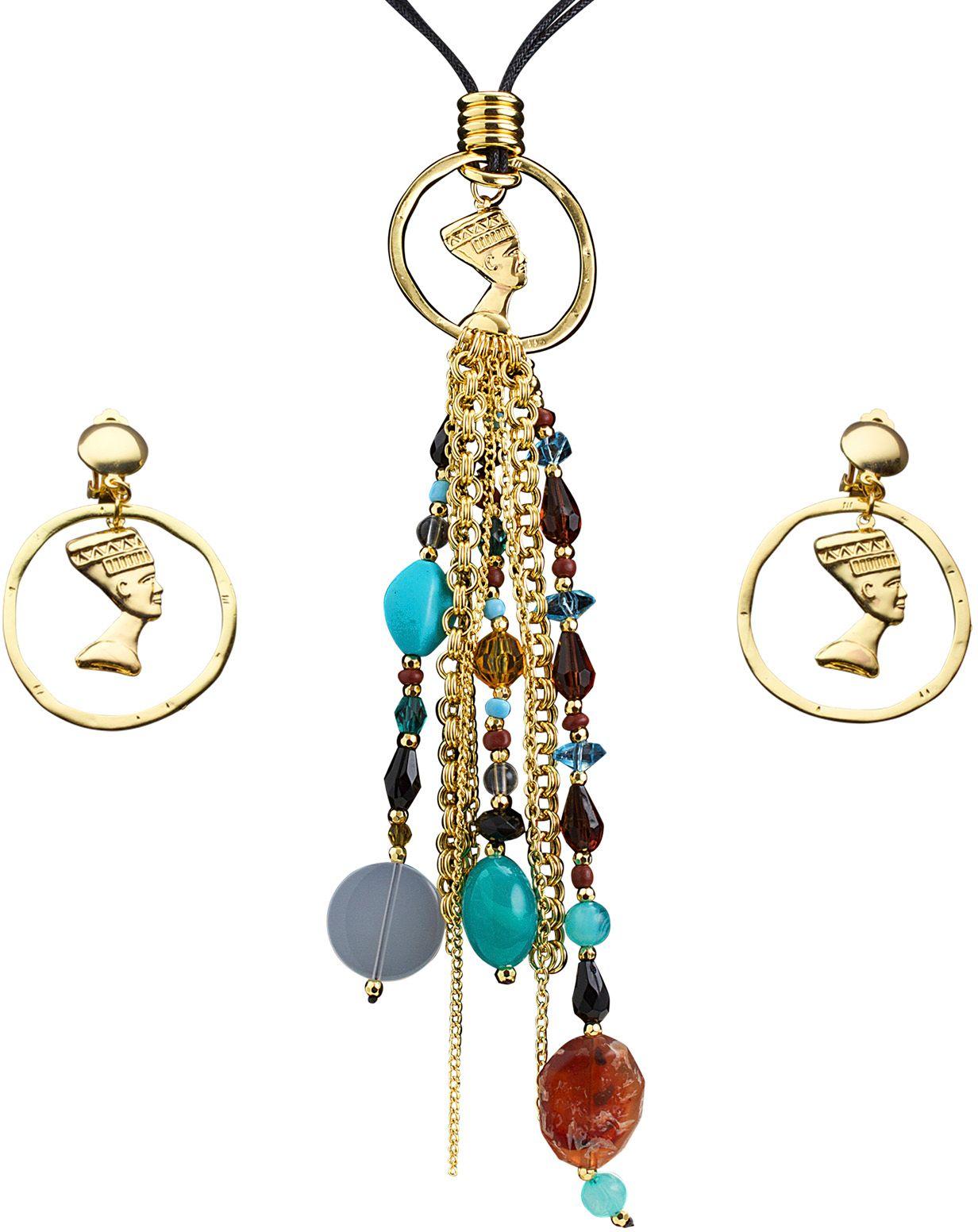 Cleopatra accessoires set ketting met oorbellen