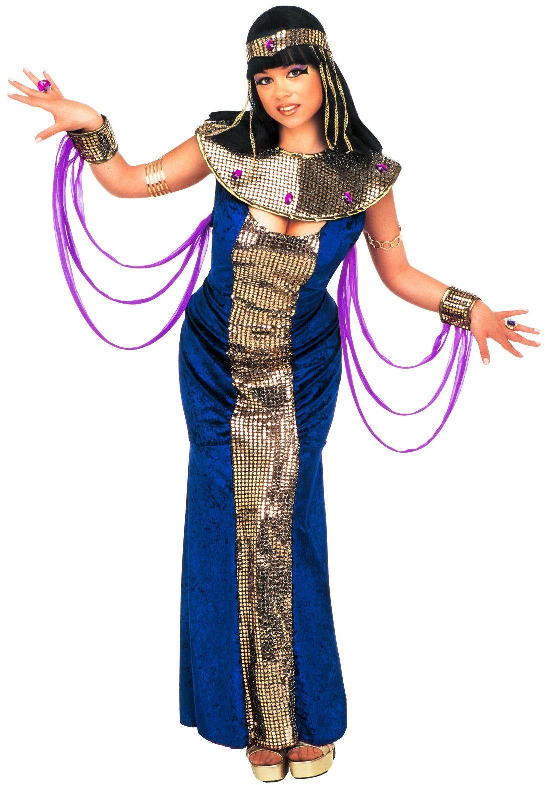 Cleopatra fluweel kostuum