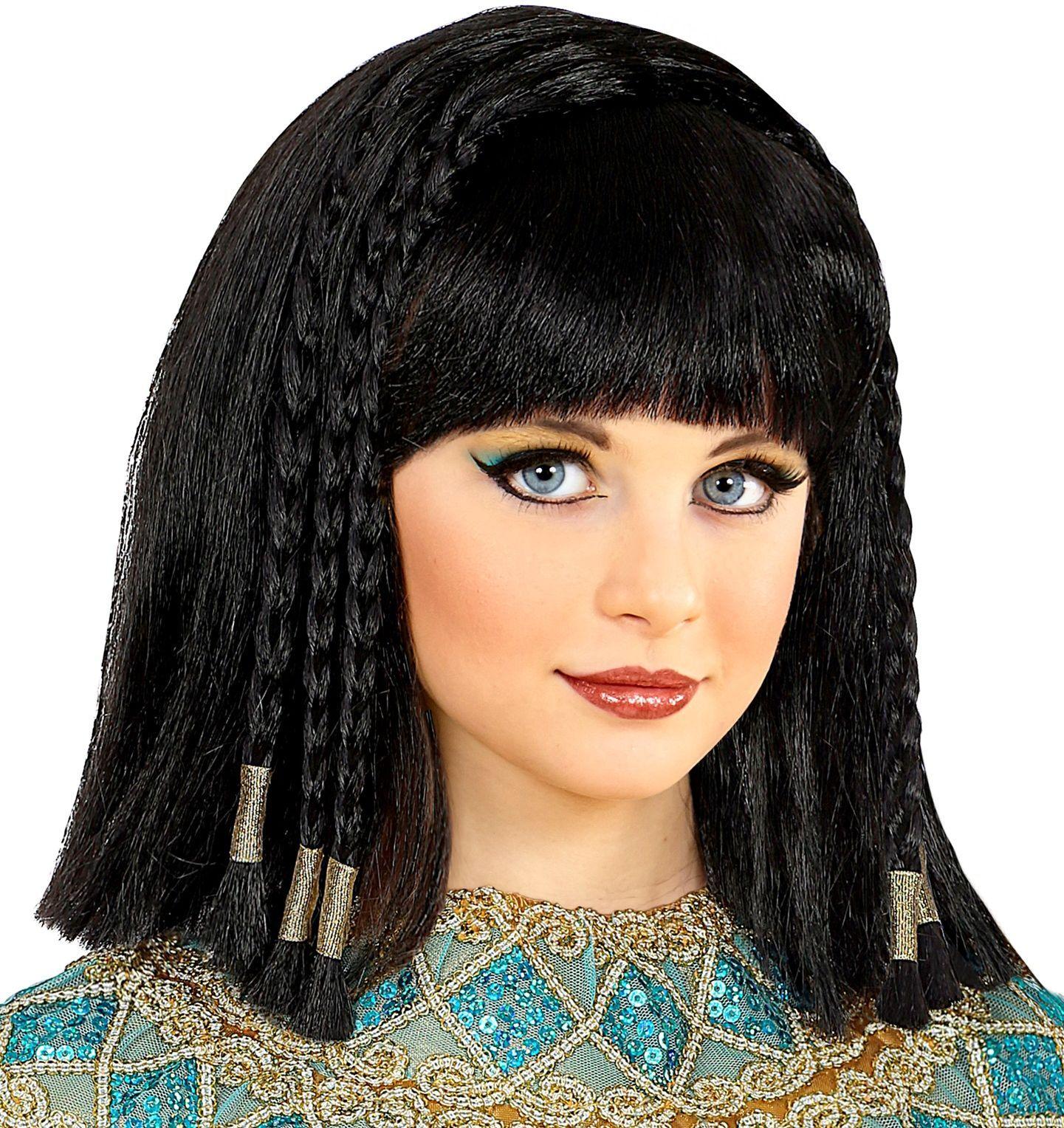 Cleopatra pruik zwart meisje