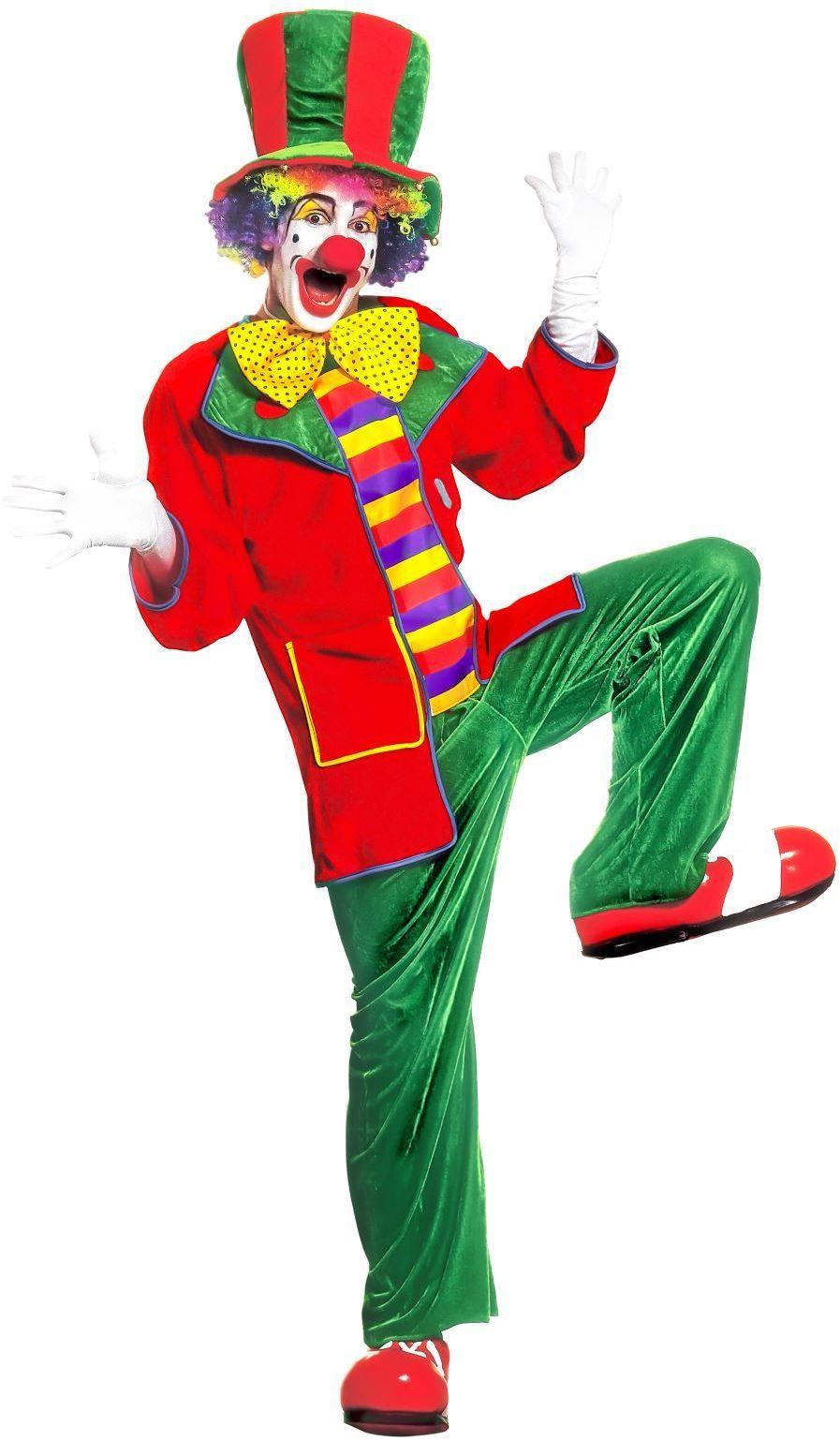 Clown fluweel kostuum