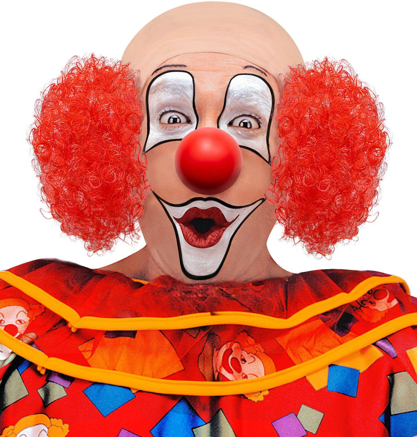 Clown hoofdstuk met rood haar
