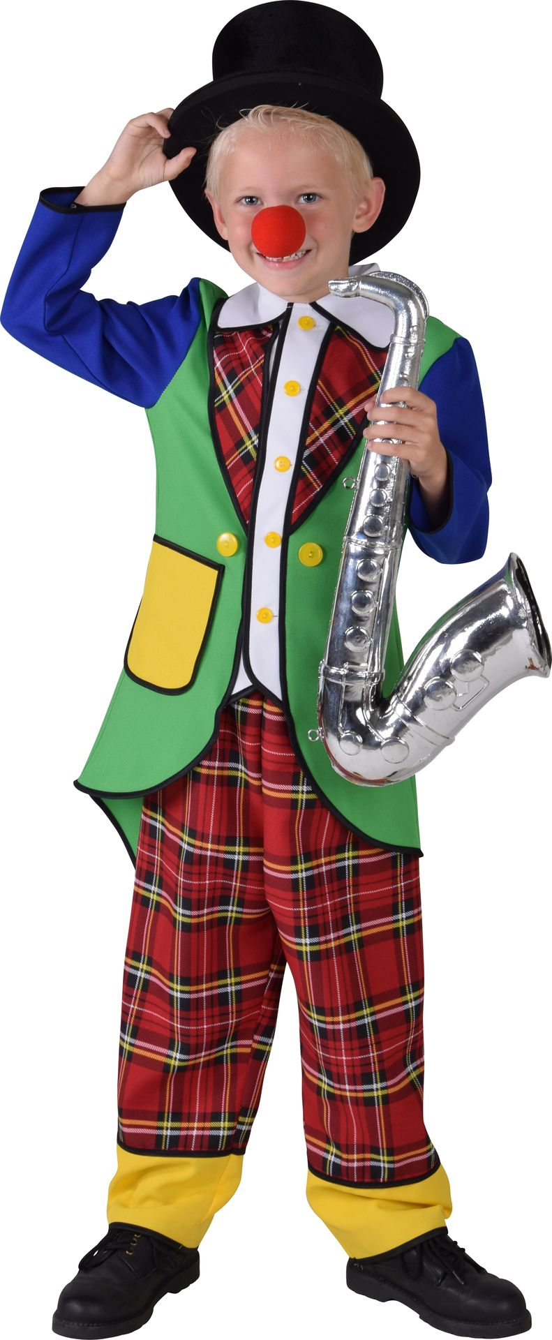 Clown pipo jongens kostuum