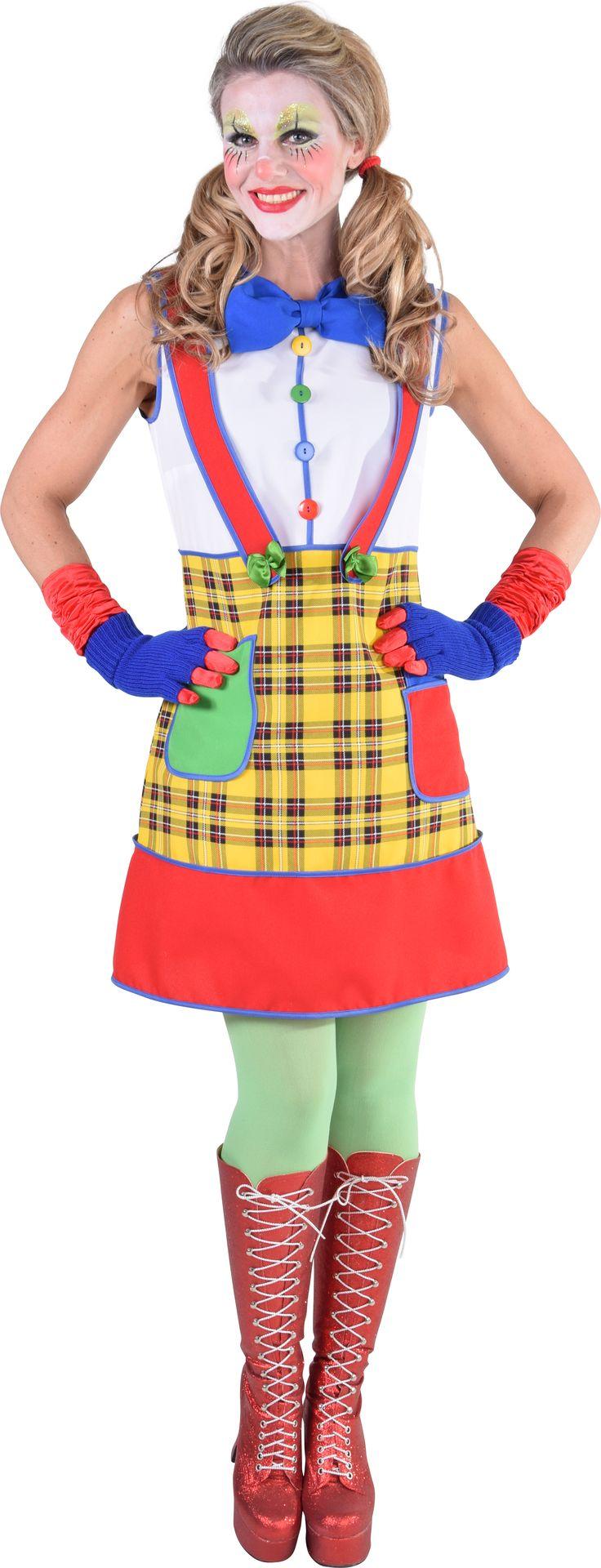 Clowns jurk carnaval dames
