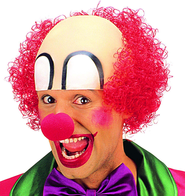 Clowns pruik met masker