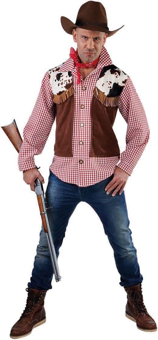 Cowboy blouse met vest man