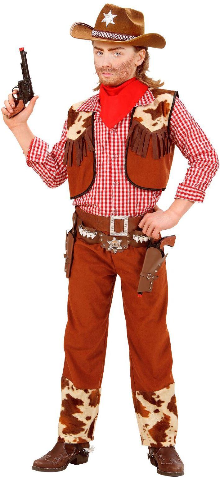 Cowboy kind bruin kostuum