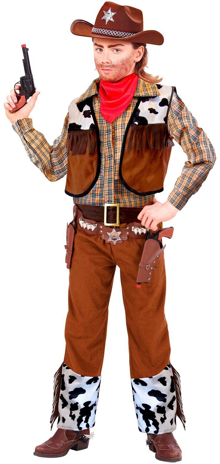 Cowboy koeienhuid kostuum